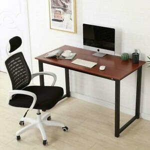 Portable Home Office Desk Computer Table Workstation Furniture 47 24 29 Brown