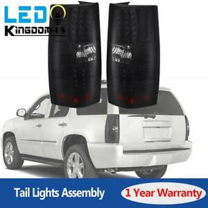 Rear Led Tail Lights For 2007 2014 Chevy Tahoe Suburban Brake Lamp Set Replace