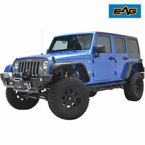 Eag Rear Fender Flares 2pcs Edge Steel Fit 07 18 Jeep Wrangler Jk