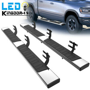 Running Boards For 2019 2021 Dodge Ram 1500 Crew Cab 6 Steel Nerf Bar Side Step