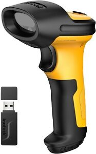 Inateck 1d Wireless Barcode Scanner 2600mah 60m Range Automatic Scanning