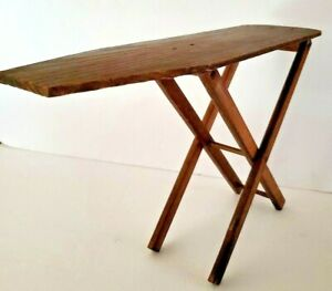 Vintage Wooden Ironing Board Folding Wooden Legs Small Children S 18 Inch Length
