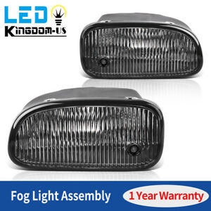 2pcs For 1999 2003 Jeep Grand Cherokee Clear Fog Lights Lamps W bulbs Replace Us