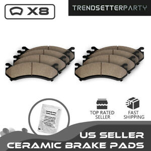 Front Rear Ceramic Brake Pads For 2007 2008 2009 2010 2011 2012 Nissan Altima