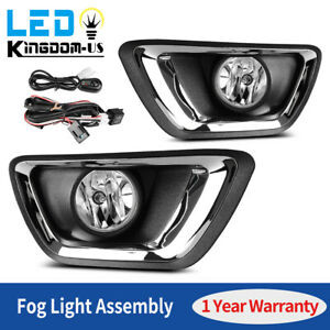 2pcs For 2015 2018 Chevy Colorado Clear Bumper Fog Lights Lamps W Wiring switch