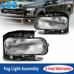 2pcs For 1999 2003 Ford F 150 Clear Lens Fog Light Front Bumper Lamp Replace Us