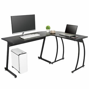 L Shaped Desk Computer Gaming Laptop Table Corner Workstation Home Office Desk