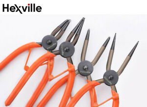 4pcs Circlip Plier Set Snap Lock Ring Pliers Internal External Retaining Clip 7