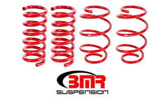 Bmr Suspension Lowering Springs Set Of 4 Red For 2015 2018 Ford Mustang Sp080r