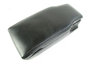 Lincoln Town Car Center Console Arm Rest Lid Top Pad Cover Black Leather 03 11
