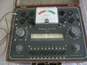Vintage Heathkit Dynamic Vacuum Electron Tube Tester Checker Model Tc 2 Untested