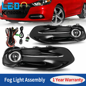 2pcs For 2013 2016 Dodge Dart Clear Front Fog Lights Lamps W switch Wiring Us