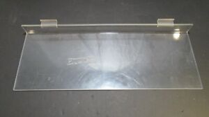 Clear Acrylic Slat Wall Shelves 8 X 22 Inch Retail Store Shop Display Lot Of 5