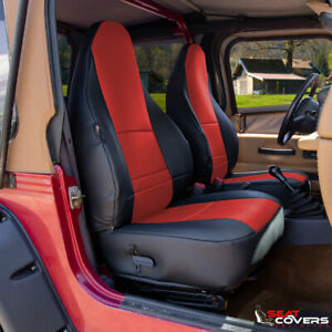 Custom Fit Leatherette Front Seat Covers For The 1997 2002 Jeep Wrangler