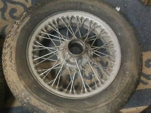 Two Triumph Tr3 Wire Wheels For Restoration