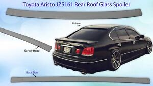 Frp Toyota Aristo Lexus Gs300 Gs400 Jzs161 Rear Window Glass Spoiler Visor Oem