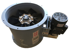 12 Dia Tube Axial Fan exhaust Spray Booth 1 Hp 1 Ph 1 600 Cfm Made In Usa