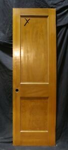 24 X77 5 Vintage Antique Old Solid Wood Wooden Interior Closet Door 2 Panels