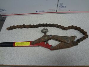 Rex Wheeler 490 Chain Cast Iron Pipe Cutter Working Condition Free Shipping