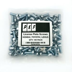 License Plate Screws For Honda Toyota Lexus Qty 100