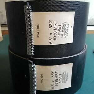 604m Vermeer Round Baler Belt Set 3 Ply Hd Mini Roughtop W Alligator Lacing
