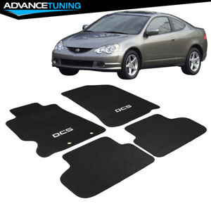 Fits 02 06 Acura Rsx Dc5 Logo Coupe Oe Floor Mat Carpet Front Rear Black Nylon