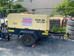 Atlas Copco 185 Cfm Diesel Towable Air Compressor Deutz 1011 Engine In Maryland