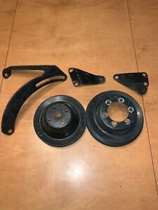 70 73 340 Mopar Pulleys And Brackets Crank Water Pump