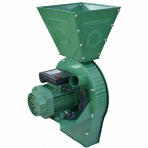 Feed Mill Grinder Ears Corn Grain Oats Wheat Crusher 400kg h 4000w 220v
