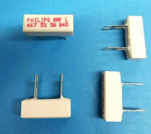 Lot 240pcs Philips 4 7k Ohm 4k7 5 Watt Ceramic Cement Power Resistor 5w
