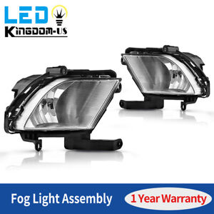 2pcs For 2010 2011 2012 2013 Kia Forte Sedan 4dr Clear Fog Lights Complete Kit
