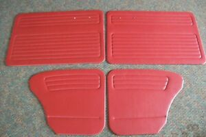 1956 64 Volkswagen Beetle Door Quarter Panel Set Red