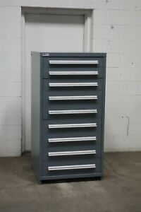 Used Stanley Vidmar 9 Drawer Cabinet Industrial Tool Storage Bin 2164