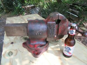 Scarce Parker 449 Vise double Swivel 4 1 4 Jaw pat d 1906 nice pv5 21 20