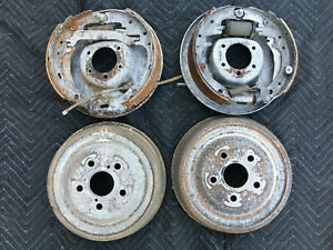 Ford 65 Galaxie 11 X 2 1 4 Rear Brake Backing Plate Set With Drums 5 X 4 5