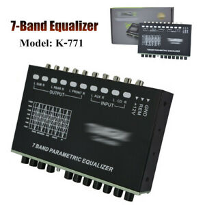 7 band Car Audio Graphic Equalizer W aux Input Car Audio Eq Tuning Crossover