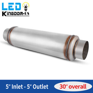 Diesel Muffler 5 Inlet outlet 30 Overall Performance Resonator Stainless Steel