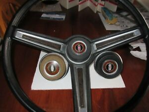 Nos 1969 442 Hurst Olds Cutlass F85 Sport Wheel Center Cap Safety Cable Awesome