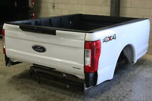 Oem Factory 17 19 Super Duty 8 Long Bed New Take Off Aluminum White Truck Box