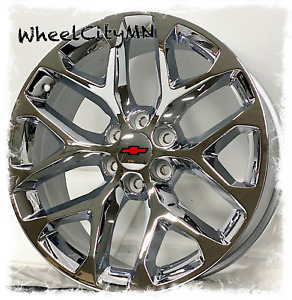 22 Inch Chrome 2018 Chevy Silverado 1500 Snowflake Oe Replica Wheels 6x5 5 24