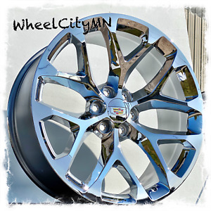 22 Inch Chrome 2019 Cadillac Escalade Snowflake Oe Replica 5668 Wheels 6x5 5 24