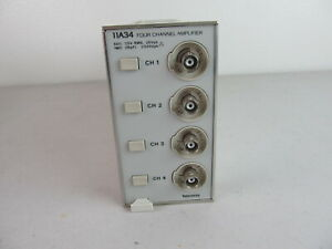Tektronix 11a34 Four Channel Amplifier Plug In Card Module Very Good Condition