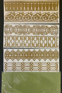 """Anna Griffin 12"""" Cutting Dies Trimmings Scrapbooking Page Borders Rare Htf $250.00"""