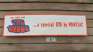 New Classic 1970 s Pontiac Gto the Judge Dealer 3 Color Sign garage Art1 x46