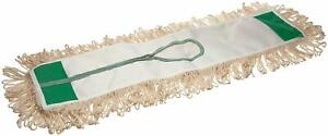 Magnolia Brush 60 Industrial Grade White Cotton Looped End Dust Mop W Zipper