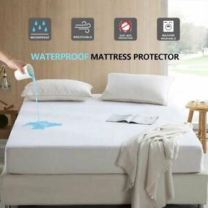 Heavy Duty Waterproof Mattress Pad Protector Cover Sheets Fitted Up To 16 Full