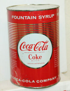 One Gallon Coca Cola Fountain Syrup vtg can export Only advertising soda