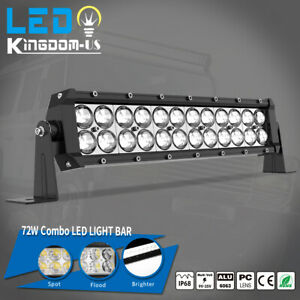 14inch 72w Led Work Light Bar Spot Flood Lamp Offroad Boat Suv Offroad 12v 24v