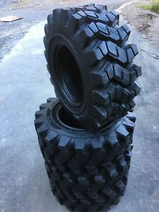 4 New Hd 14 17 5 Camso Sks753 Skid Steer Tires For Bobcat 14x17 5 50 32nd Tread