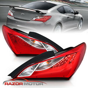 For 2010 2011 2012 2013 2014 2015 2016 Hyundai Genesis Coupe Red Led Tail Lights